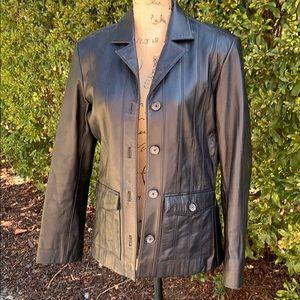 EUC Leather Jacket/Blazer Fully Lined